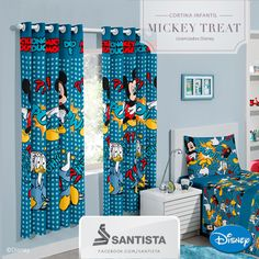 cortinas infantiles see more cortina infantil mickey treat licenciados disney