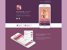 Ice Cream App Landing Page