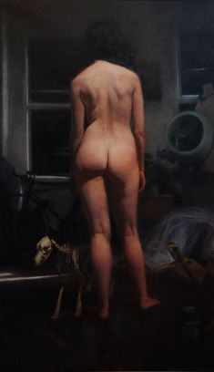 Carl Dobsky, Death and the Maiden, Oil on Linen, 54 x 32 inches, 2012
