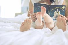 Reading books to baby