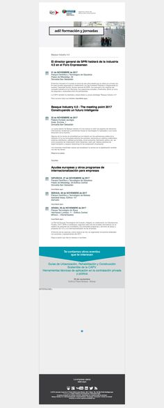 134 ADI! Jornadas (20/11/2017): Basque Industry 4.0, Ayudas a I+D e internacionalizacíon y otros eventos