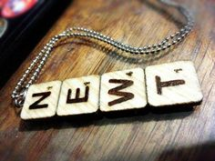 "Let the stress out of my fucking mind. DIY Scrabble letters Newt ""The Maze Runner"" necklace pendant. Maze Runner Thomas, Maze Runner Series, Wood Necklace, Pendant Necklace, Pendant Jewelry, Fandom Jewelry, The Scorch Trials, Gifts For Runners, Teen Summer"