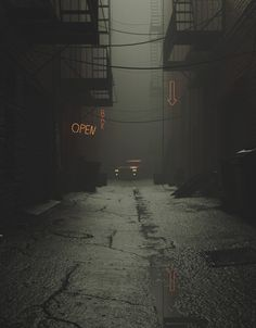 between realistic NY side alley and stylised asian mega city slumms Night Aesthetic, City Aesthetic, Aesthetic Photo, Aesthetic Pictures, Aesthetic Dark, Dark Photography, Street Photography, Night Photography, Aesthetic Backgrounds