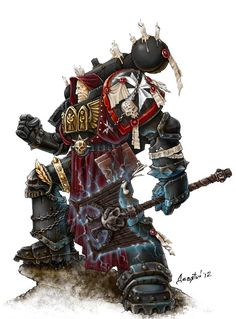 A Chaplain is a specialist officer of the Adeptus Astartes and serves as the appointed spiritual leader of a Space Marine Chapter.