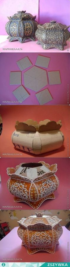 25 New things made with DIY cardboard box anyone can make - - cardboard upcycling ideas Cardboard Furniture, Cardboard Crafts, Cardboard Boxes, Cardboard Playhouse, Diy Paper, Paper Art, Paper Crafts, Fun Crafts, Diy And Crafts