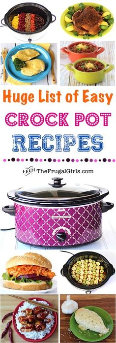 HUGE List of Easy Crock Pot Recipes! ~ from TheFrugalGirls.com ~ Go grab your Crockpot... it's time for a delicious dinner makeover! You'll LOVE these simple, flavor packed Recipes, and your family will be giving you the rave reviews!! #slowcooker #recipe #thefrugalgirls