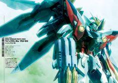Mobile Suit Gundam Wing - XXXG-00W0 Wing Gundam Zero Gundam Wing, Gundam Art, Mythological Monsters, Gundam Wallpapers, New Gods, Mobile Suit, Yandere, Wings, Wing Wing