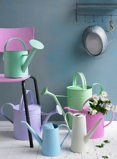 ice cream color watering cans