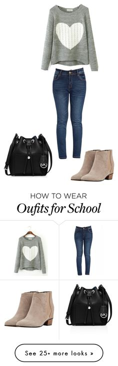 """""""School day"""" by maggiegarrett on Polyvore featuring Golden Goose and MICHAEL Michael Kors Only Fashion, Curvy Fashion, Modest Fashion, Plus Size Fashion, Fashion Outfits, Womens Fashion, Fashion Trends, Basic Outfits, Stylish Outfits"""