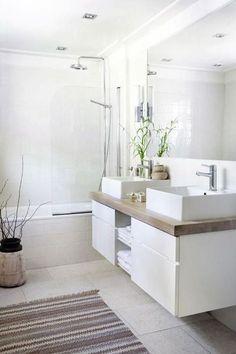 12 salles de bains blanches pour s'inspirer le style zen de cette salle de bains…