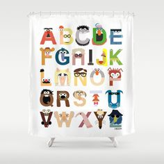 Muppet Alphabet Shower Curtain by Mike Boon - $68.00