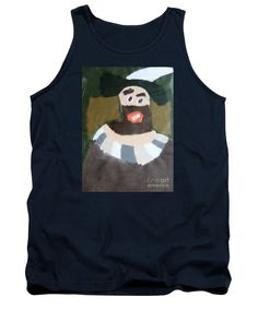 Patrick Francis Navy Blue Designer Tank Top featuring the painting Rembrandt - After Rembrandt Self-portrait by Patrick Francis
