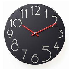 "Amazon.com: JustNile Non Ticking Silent Curve Acrylic Cover Wall Clock - 12"" Black: Home & Kitchen"