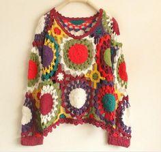 <商品説明>・シックなセーター以外にももっと明るいセーターを作りたいと思いデザインしました。・テーマは田舎の「晴れの日のお花畑」です。太陽やひまわりを想像させ...|ハンドメイド、手作り、手仕事品の通販・販売・購入ならCreema。