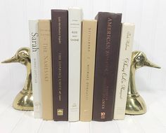 Brown and Tan Decorative Book Set. Shelf decor Mantel Decor Shelf decorating mantel decorating. Buy On Etsy Now