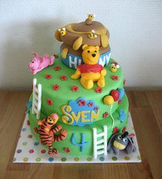 Winnie the Pooh, Piglett, Tigger, & Eyeore #cake  by ~Naera