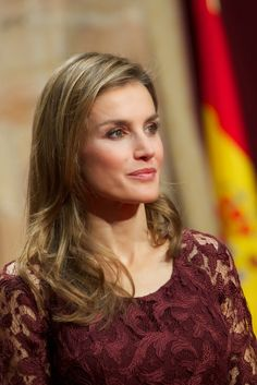 HRH Crown Princess Letizia of Spain attend audiences ahead of the Prince of Asturias formal awards 10/25/2013