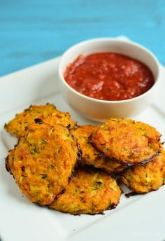 Slimming Eats Cheesy Sweet Potato and Zucchini Bites - gluten free, vegetarian, Slimming World and Weight Watchers friendly(Indian Potato Recipes) Sweet Potato Recipes, Veggie Recipes, Baby Food Recipes, Vegetarian Recipes, Cooking Recipes, Healthy Recipes, Party Recipes, Free Recipes, Sweet Potato Crisps