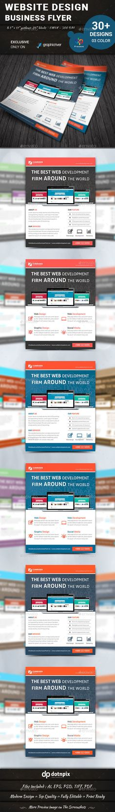 Website Design Flyer  Application Apps Website Designs And Adobe