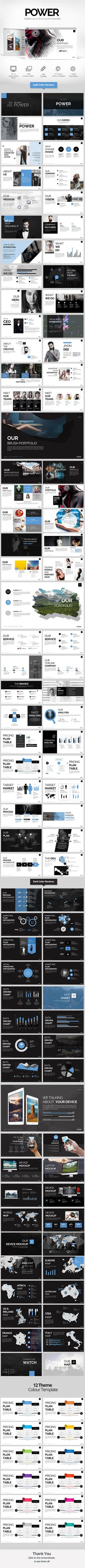 Power Powerpoint Presentation Template. Download here…