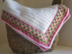 Baby Blanket   Granny Border Reserved For Heidi by AllThingsGranny, $25.00