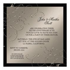 Celebrating 25 years, 25th Anniversary Invitation