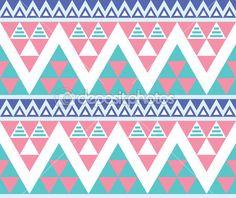 Tribal aztèque motif transparent coloré — Illustration #24978929