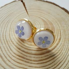 Forget me not, for real! ...earrings
