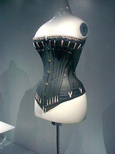 1890 silk corset