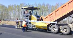 MOBA -  Machine Control for Road Construction with Big Sonic Ski in Siberia.