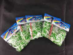 5x packs loom bands, #green/white, #christmas, #halloween, birthdays,  View more on the LINK: 	http://www.zeppy.io/product/gb/2/172519845784/