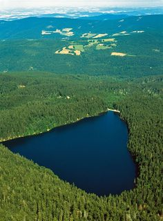 Šumava, Černé jezero  (Sumava mountains, the Black Lake, Czech Republic of course there's a heart shaped lake in Czech!)