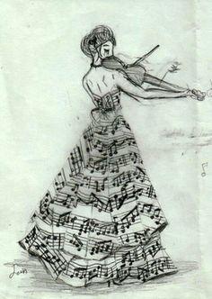 desenho: Notas Musicais no Estilo