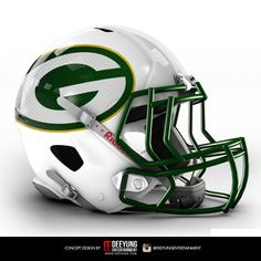 NFL Concept Helmets Deeyung Entertainment took this a step further by creating new helmets for all 32 teams. The designs are futuristic, and some of them very cool -- but old school fans won't be pleased nfl jersey wholesale authentic Cool Football Helmets, Sports Helmet, Football Uniforms, Football Memes, Football Gear, Football Stuff, Packers Baby, Green Bay Packers Fans, Packers Football