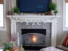 Decorate Your Mantel for Winter | Interior Design Styles and Color Schemes for Home Decorating | HGTV