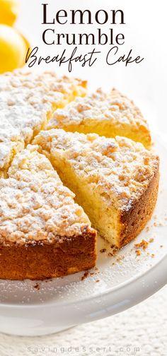 Lemon Desserts, Just Desserts, Delicious Desserts, Dessert Recipes, Yummy Food, Brunch Cake, Breakfast Cake, Breakfast Recipes, Sweet Breakfast