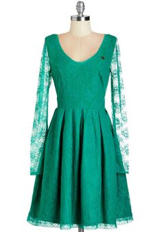Maven of Moxie Dress. Youre an expert when it comes to charismatic style, and it shows when you don this jade-green party dress by Blutsgeschwister. #gold #prom #modcloth