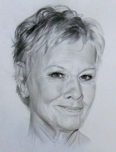 Dame Judy Dench by akalinz.deviantart.com on @deviantART