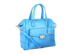 Cole Haan Zoe Structured Satchel in Blue Topaz - 6pm.com $179.10