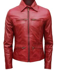 Once Upon A Time Jacket - Emma Swan Red Leather Jacket – The Film Jackets Emma Swan, Short Leather Jacket, Leather Jackets, Khaki Jacket, Leather Vest, Bomber Jacket, Film Jackets, Men's Jackets, Outerwear Jackets