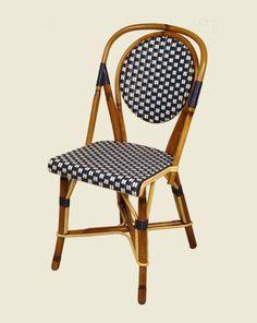 Chaise de bistrot en rotin tissé - DRUCKER - depuis 1885