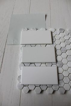 benjamin moore wickham gray with subway tile & hex floor tile - we are halfway there - at least we have the paint color - but I want this tile!