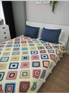 Crochet Bedspread Pattern, Crochet Patterns, Manta Crochet, Afghans, Bed Spreads, Bed Sheets, Crocheting, Comforters, Quilts
