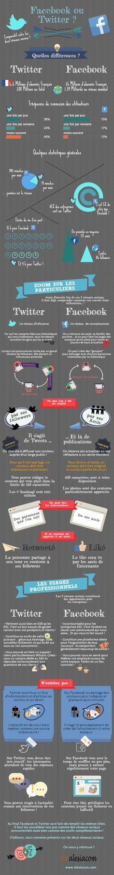 Une infographie pour choisir entre Facebook et Twitter.