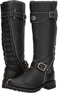 Harley-Davidson Women's Lenehan Motorcycle Boot, Black, 7 Medium US Harley Boots, Harley Gear, Biker Chick, Biker Girl, Rock Elegante, Cute Shoes, Me Too Shoes, Motorcycle Style, Motorcycle Boots Women