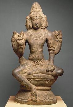 Shiva as Sadashiva or Mahesha, Chola period (ca. 860–1279), 10th century. Tamil Nadu, India. Granite.