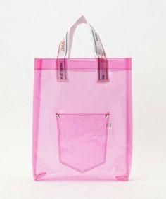 see through pink tote bag