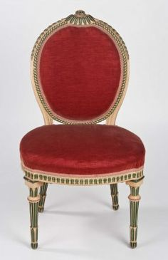 One of a set of ten chairs by Thomas Chippendale made in 1775 for Harewood House in Yorkshire.