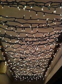 Opaque Canvas: DIY | Twinkle Light Porch Canopy Cost $25 to make.  Read tutorial