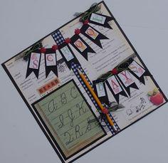 TPHH School Days 12x12 Premade Scrapbook Layout by Khearts1